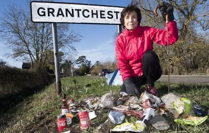MARY ARCHER wants YOU to do your bit to solve the rubbish problem