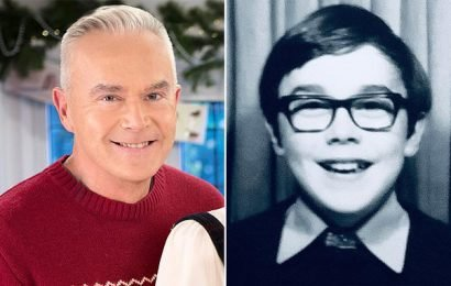 TALK OF THE TOWN: Huw Edwards shows off his impressive weight loss