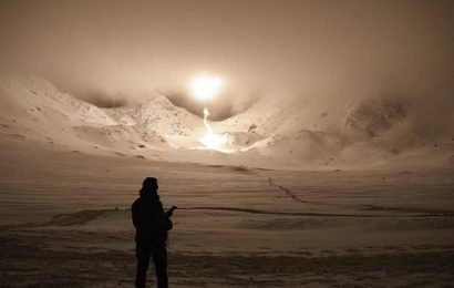 Royal Marines light up Arctic night sky with mortar rounds in Norway