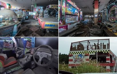 Inside Fukushima's red zone: Arcade 'covered in radioactive dust'