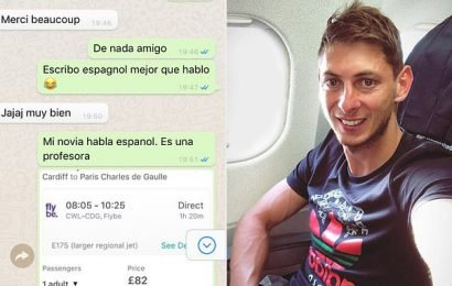 Leaked messages show Cardiff offered Emiliano Sala a commercial flight