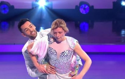 Jane Danson thanks Sylvain for 'literally saving' her after Dancing On Ice fall
