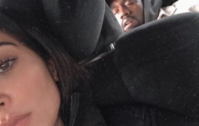 Everyone can relate to this pic of Kanye West as he 'sleeps through Super Bowl'