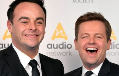 Ant and Dec waste no time in parodying Amanda Holden's sultry shower photo