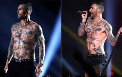 Please Appreciate Adam Levine's Sexy, Shirtless, Tatted Chest From ALL Angles