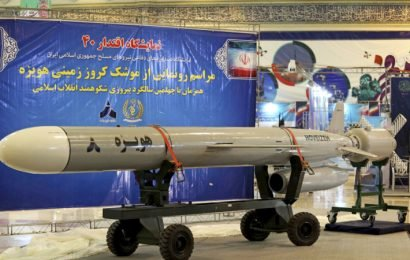 Iran defies US with display of long-range cruise missile