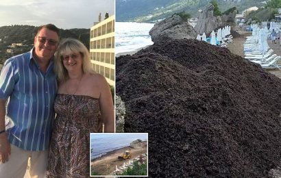 Couple say Corfu holiday was ruined by 8ft-high mountains of seaweed