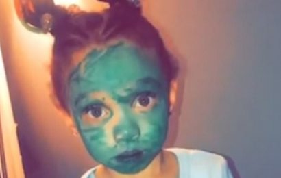 'Do you want to be the Grinch?' Mom discovers daughter covered in pen