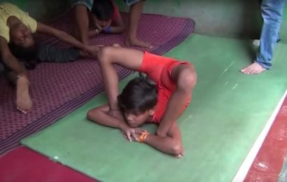 India's 10-year-old 'rubber boy' shows extreme yoga move in record bid