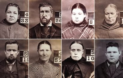 Auld Crystal-clear 1800s mugshots of Scottish convicts