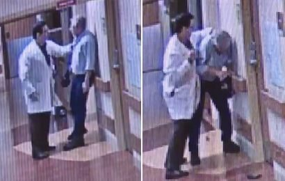 Hospital video shows doctor fighting with patient's friend