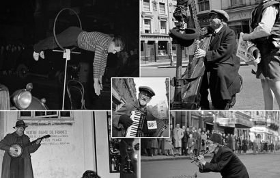 From dawn till busk! Street artists who kept 50s London entertained