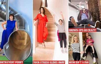 If staircases are getting you down try latest fad for INDOOR SLIDES