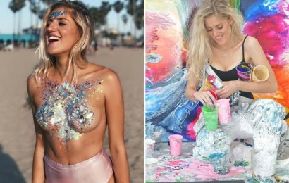 Artist who sparked the 'glitter boobs' craze set to make £1 MILLION this year