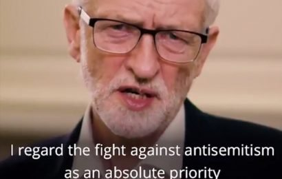 Jeremy Corbyn vows to 'fight anti-semitism' in desperate video message after Labour party turmoil