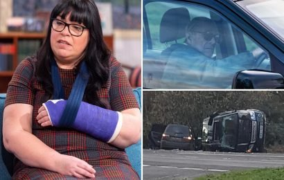 Prince Philip crash victim faces surgery to have metal plates implanted after agonising wrist injury fails to heal