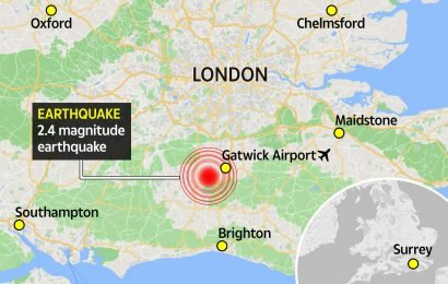 Surrey struck by 2.4 magnitude earthquake as residents report 'loud bangs' and 'furniture shaking'