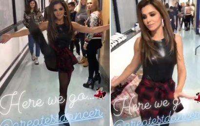 Cheryl shows off high kick dance moves after being accused of messing up Greatest Dancer routine