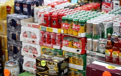 Supermarket booze sales jumped by 10 per cent last month — despite the Dry January drive