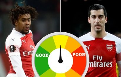 Arsenal player ratings: Gunners rubbish on poor night as they fall to shock BATE Borisov defeat