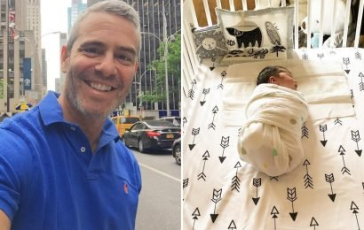 TV presenter is dad-shamed after sharing sweet photo of his son swaddled up in a crib