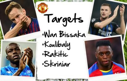 Man Utd's four-man transfer summer shortlist including Wan-Bissaka and Rakitic