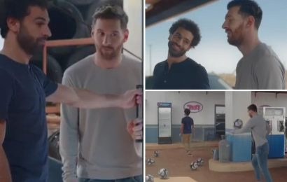 Messi and Salah show off outrageous skills in Pepsi advert and behind scenes footage reveal it was no fake