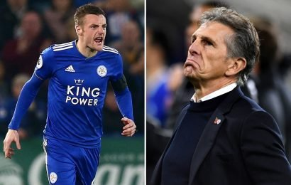 Furious Leicester ace Vardy 'punches door in rage' after Crystal Palace hammering in Claude Puel's final game before sacking