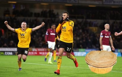Wolves fan slapped with three-year ban for throwing pie at West Ham supporter