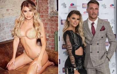 Love Island beauty Hayley Hughes stuns in a gold bikini for sexy snaps as she looks for romance