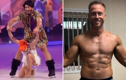 Dancing On Ice's James Jordan suffers 'agonising' hernia injury during rehearsals for this week's semi-final