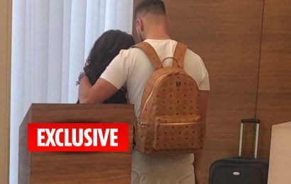 Jesy Nelson and Chris Hughes spent the night together at K West Hotel in London on Friday