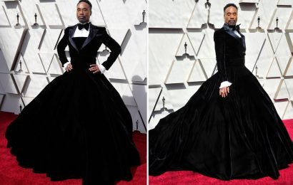 Oscars 2019: Billy Porter 'wins' the red carpet in stunning Cinderella tuxedo dress – and Twitter is loving it