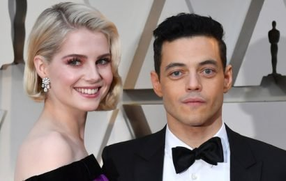 Rami Malek and Lucy Boynton Shared the Most Passionate Kiss at the Oscars