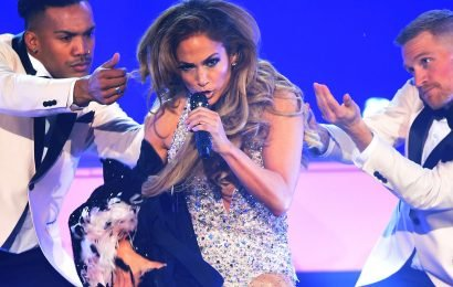 J.Lo Just Stripped Down To A Nearly-Naked Bodysuit During Her Grammys Performance