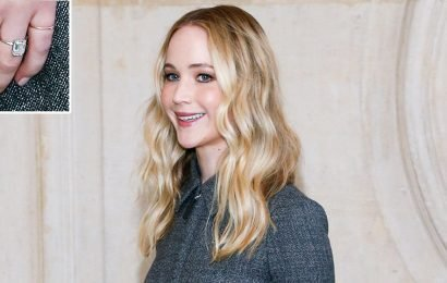 Blinding Bling! Jennifer Lawrence Flashes Gorgeous Engagement Ring for the Cameras at Paris Fashion Week