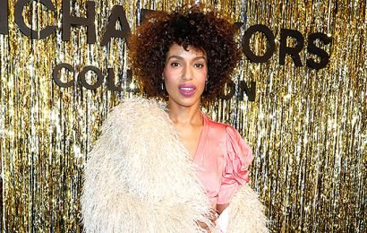 Kerry Washington's Hair: Star Reveals Her Natural Curls & Soft Afro At Michael Kors NYFW Show — Watch
