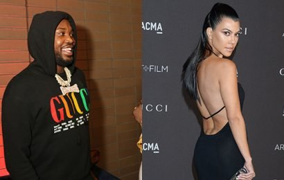 Meek Mill Flirts With Kourtney Kardashian On IG After She Posts Hot Pic Of Her 'PHAT' Butt