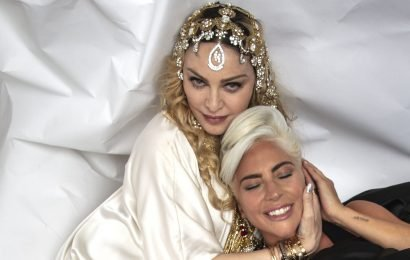 Lady Gaga and Madonna Spent the Oscars After Party Snuggling and Eskimo Kissing