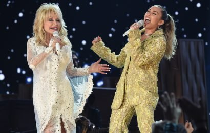 Dolly Parton honored by Miley Cyrus and Katy Perry at Grammys