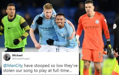 'Mocking' Manchester City apologise to Chelsea for playing their Madness celebration song 'One Step Beyond' after 6-0 thumping
