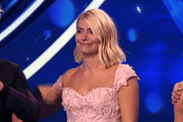 Holly Willoughby red faced after commenting on James Jordan's 'nice bum' in VERY tight leggings on DOI
