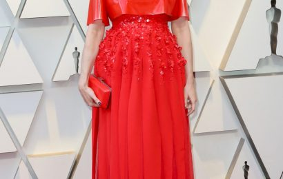 Rachel Weisz in orange plastic Givenchy at the Oscars: hideous & disappointing?