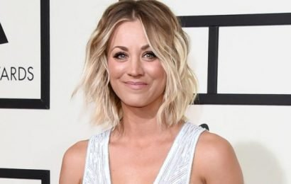 'Big Bang Theory' star Kaley Cuoco shares steamy lingerie photo from set: 'Check out those abs!'