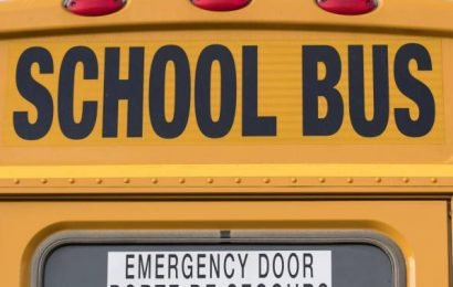 1 injured, charges pending after car, school bus collide in Middlesex Centre: OPP