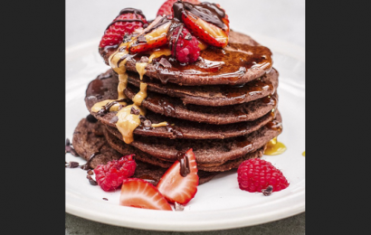 Indy Power's stacks of love: Gluten-free and vegan chocolate pancakes