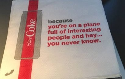 Delta yanks 'creepy' suggestive napkins from planes after backlash