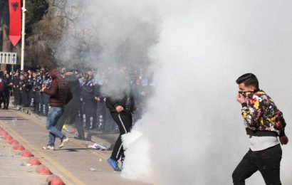 Albanian protesters attack PM's office to demand he quits