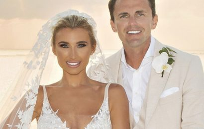 Billie Faiers' wedding dress revealed – as she slams 'yobbish behaviour' claims