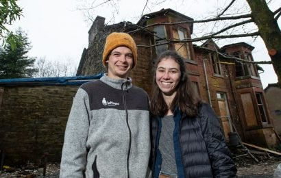 Young couple buy crumbling 120-year-old mansion by mistake after auction mix-up